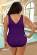 Krinkle Acai Plus Size Cross Back One Piece Chlorine Resistant Swimsuit