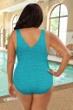 Krinkle Aruba Plus Size Cross Back One Piece Chlorine Resistant Swimsuit