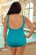 Krinkle Aruba Plus Size Mock Surplice One Piece Chlorine Resistant Swimsuit