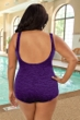 Krinkle Acai Plus Size Twist Front One Piece Chlorine Resistant Swimsuit