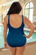 Krinkle Mykonos Plus Size Shirred One Piece Chlorine Resistant Swimsuit