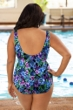 Chlorine Resistant Aquamore Mai Tai Plus Size High Neck One Piece