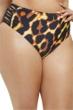 Fashion to Figure Catalina Leopard Lattice Side High Waist Bikini Bottom