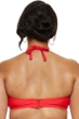 Fashion to Figure Rosario Red Crochet High Neck Halter Bikini Top
