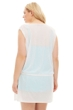 Always For Me White Plus Size Drawstring Tank Cover Up Dress