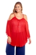 Always For Me Red Flirty Plus Size Cover Up Dress