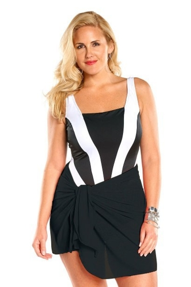 Always For Me Black Plus Size Short Sarong Cover Up