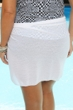 Always For Me White Plus Size Short Sarong Cover Up