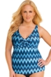 Always For Me Native Peacock Plus Size Ruched A-Line Tankini Top