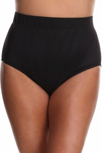 Always For Me Black Plus Size Full Brief Tankini Bottom