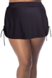 Always For Me Black Plus Size Adjustable Sides Swim Skirt