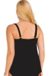 Always For Me Black Plus Size Ruched A-Line Tankini Top