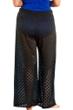 Always For Me Black Plus Size Lattice Beach Cover Up Pant
