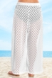 Always For Me White Plus Size Lattice Beach Cover Up Pant