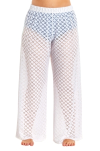 Always For Me White Lattice Plus Size Cover Up Pant