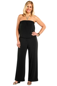 Always For Me Black Plus Size Quintessential Jumpsuit