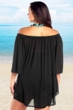 Always For Me Black Plus Size Off the Shoulder Cover Up Tunic
