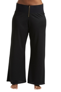 Always For Me Black Plus Size Zipper Front Pant