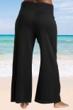Always For Me Black Plus Size Zipper Front Pant