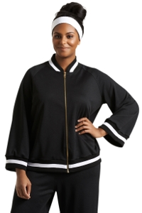 Always For Me Black Plus Size Hudson Bomber Jacket
