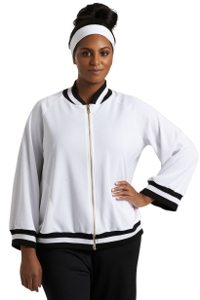 Always For Me White Plus Size Hudson Bomber Jacket