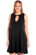 Always For Me Black Plus Size Keyhole Dress