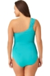 Anne Cole Plus Size Turquoise One Shoulder One Piece Swimsuit