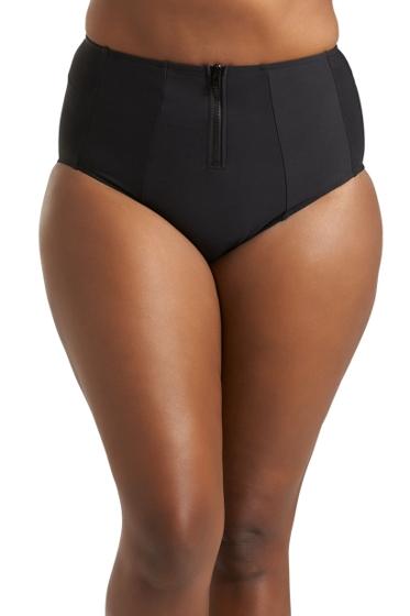 Always For Me Black Plus Size Jax Zip Front Tankini Bottom