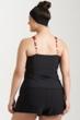 Always For Me Black Plus Size Traycee Criss Cross Underwire Tankini Top