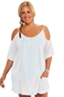 Always For Me White Plus Size Open Shoulder Cover Up Tunic