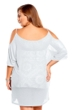 Always For Me Plus Size Open Shoulder Cover Up Tunic