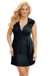 J Valdi Plus Size Black Rayon Spandex Jersey Zip Front Dress