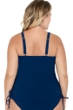 Christina Wanderlust Embroidery Plus Size D-Cup Underwire Tankini Top with Drawstrings
