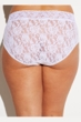 Hanky Panky White Plus Size Signature Lace French Brief