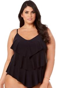 Magicsuit Black Plus SIze Rita Tankini Top