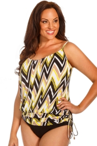 Magicsuit Shockwave Plus Size Shelly Underwire Tankini Top
