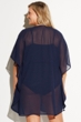 Always For Me Navy Plus Size Glamour Girl Cover Up Dress