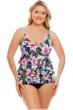 Shape Solver Plus Size Bora Bora Triple Tier One Piece Swimsuit