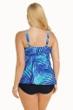 Shape Solver Safari Stripe Plus Size Triple Tier Fauxkini One Piece Swimsuit