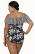Penbrooke Magnolia Twin Plus Size Ruffle Off the Shoulder One Piece Swimsuit