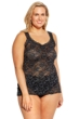Hanky Panky Black Heather Plus Size Cross Dyed Lace Cami Top