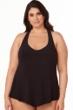 Magicsuit Black Plus Size Taylor Racerback Underwire Tankini Top