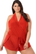 Magicsuit Rouge Red Plus Size Bianca Swim Romper One Piece Swimsuit