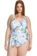Becca ETC by Rebecca Virtue Femme Flora Tie Side Plus Size One Piece Swimsuit