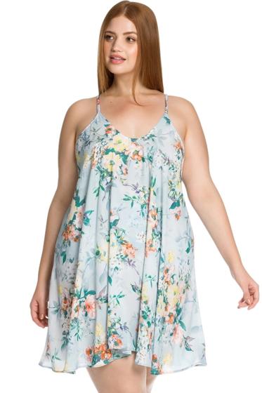 Becca ETC by Rebecca Virtue Femme Flora Plus Size Beach Dress