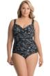 Miraclesuit Plus Size Riviera Maya Sanibel Underwire Surplice One Piece Swimsuit