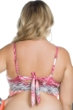Becca ETC by Rebecca Virtue Plus Size Cosmic Slashed Back Bralette Bikini Top