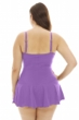 Always For Me Jam Plus Size Illusion Ring Front Shirred Swimdress