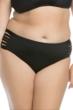 Becca ETC by Becca Virtue Electric Current Plus Size Side Shirred Hipster Bikini Bottom