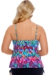Carribean Joe Plus Size Pleasant Evening Triple Tier Tankini Top